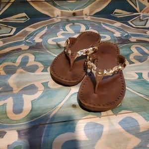 UGG rose gold and brown sandals